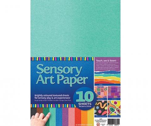 Sensory Art Paper Asst 10 pack