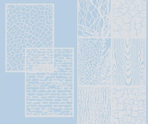 Stencil Sheets - Textures set of 8