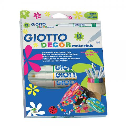 Giotto Decor Materials Markers 12pack