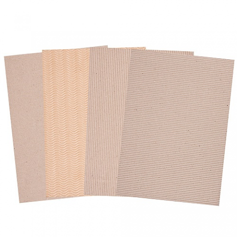 Corrugated Natural Card A4