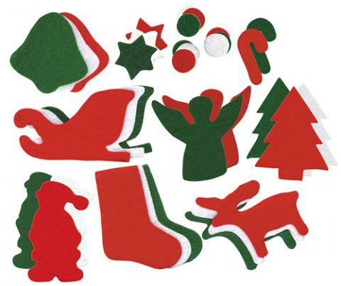 Felt Christmas Shapes 200