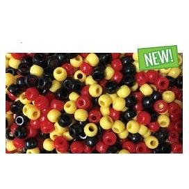 "Pony Beads ""Red,Yellow,Black"""