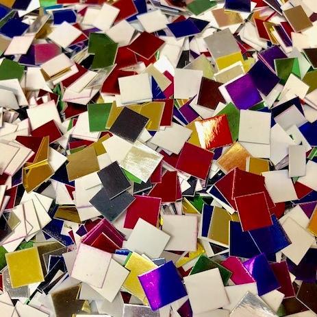 Metallic Mini Mosaic Card Squares 250g