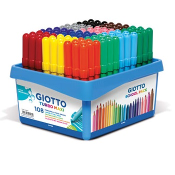Giotto Turbo Maxi Markers 108pc Classpack