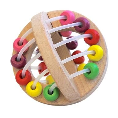 Discoveroo Wooden Play Ball: Beads