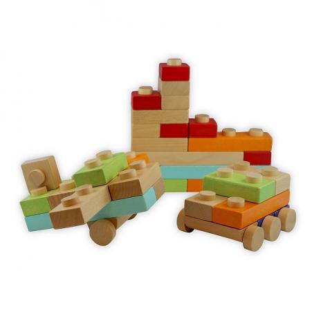 Discoveroo: Blocks 34 Piece Set in Plastic Box