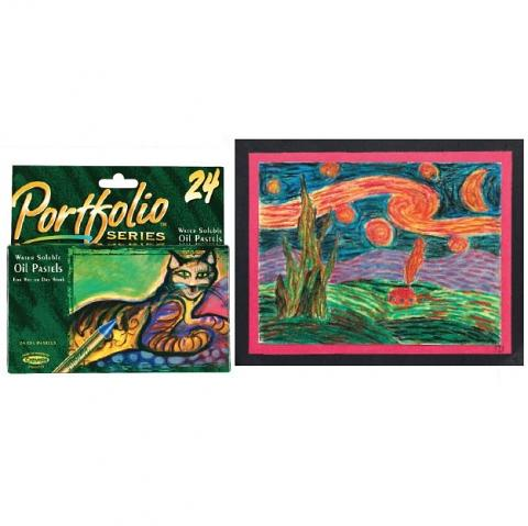 Portfolio Oil Pastels 24pack (Water Soluble)