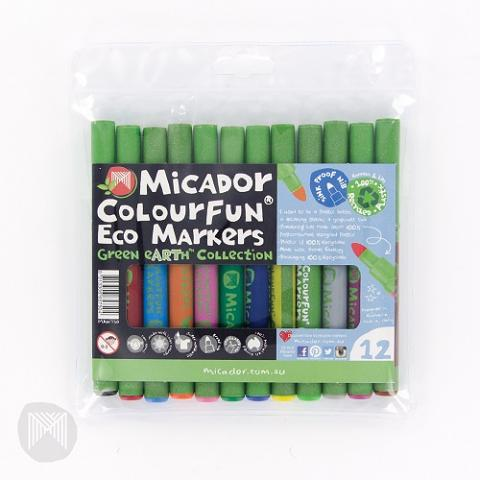 Colourfun Eco Markers Markers 12pack