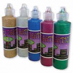 Glitter Glue 3D Creation set of 5 (60ml bottles) - Permanent