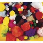 Pom Poms Assorted Standard Colours