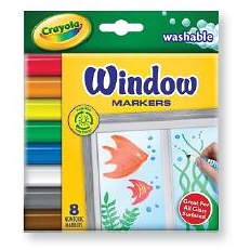 Crayola Window Markers 8pack