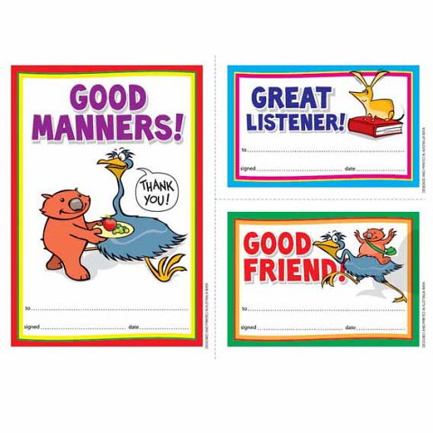 Certificate Early Year Manners
