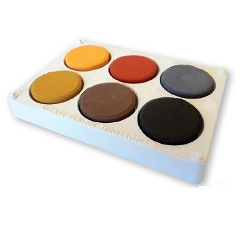 Paint Block Set Earth Colours with Palette