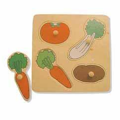Vegetables Large Knob Puzzle