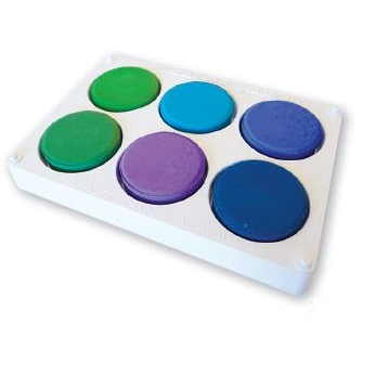 Paint Block Set Cool Colours with Palette
