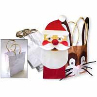 White Paper Bags with Handle 50pk