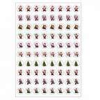 Christmas Santas Dynamic Glitz Stickers 800 pack