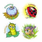 Garden Insect Stickers 96 pack (MS062)
