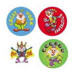 Clowns Stickers 96 pack (MS083)