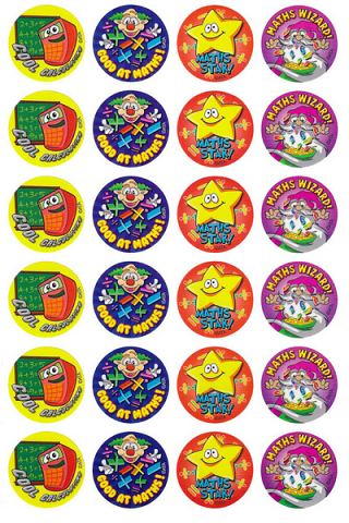Maths Star Stickers 96 pack (MS035)