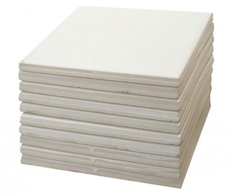 Glazed Tile 97mm 10's White