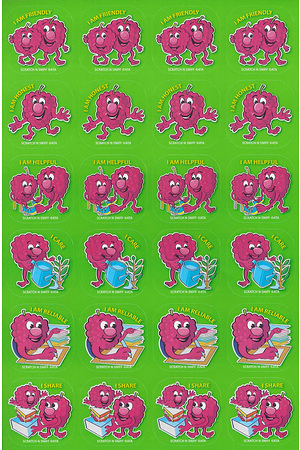 Scratch 'n Sniff Stickers Good Behaviour Scented 72 pack (SS1023)
