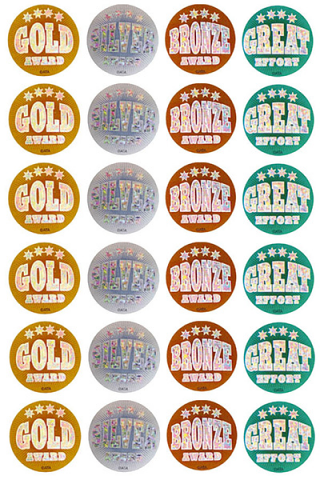 Holographic Medal Stickers 40mm