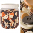 Buttons - Natural Colour 600g Jar