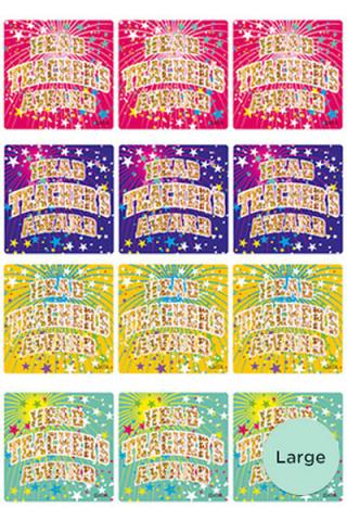 Head Teachers Award Foil Glitz Sticker