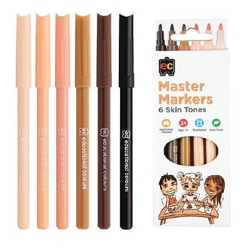 Master Skin Tone Markers Pack of 6