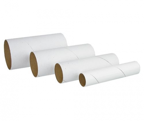 Cardboard Tubes White 60pk