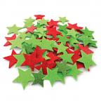 Foam Christmas Glitter Stars 250pack