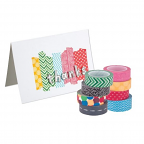 Washi Tape Assorted Patterned 8 pack