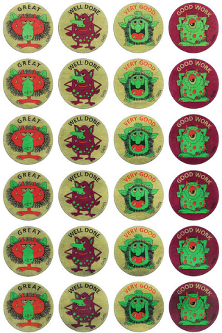 Monsters Metallic Sticker 96 pack (MT304)