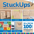 Stuck Ups Brown Kraft Paper 30x30cm 100pack