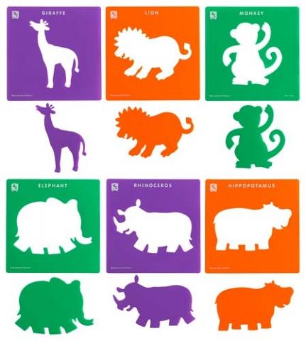 Stencil Jungle Animal