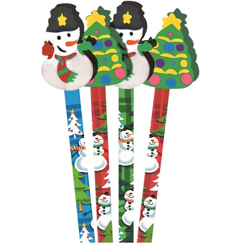 Snowman/Xmas Tree Pencil Toppers