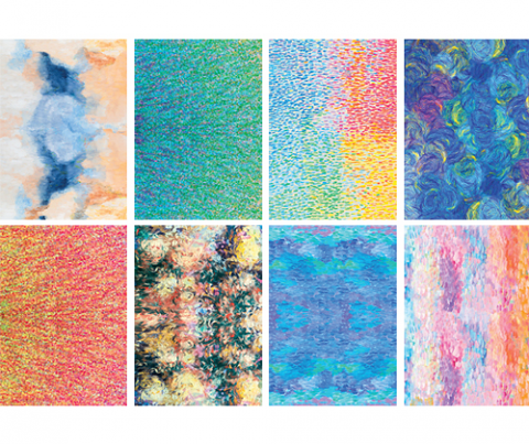 Pattern Papers A4 40pack Impressionist