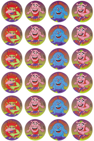 Monsters & Ogres Stickers 96 pack (MS109)
