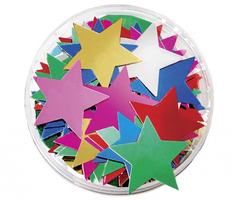 Stars Large Sequins in a Jar 50g
