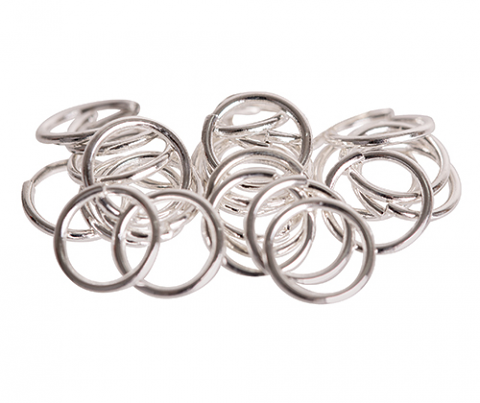 Jump Rings 8mm 100pack - Silver