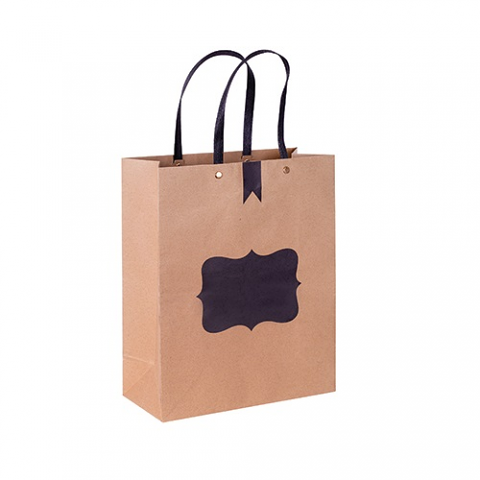 Blackboard Paper Bag with Handle 12pack Medium