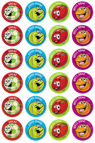 Sports Balls Stickers 96 pack (MS098)