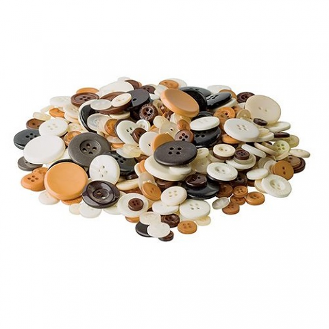 Buttons - Natural Colour 600g Jar