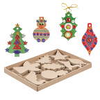 Paper Mache Christmas 80pack