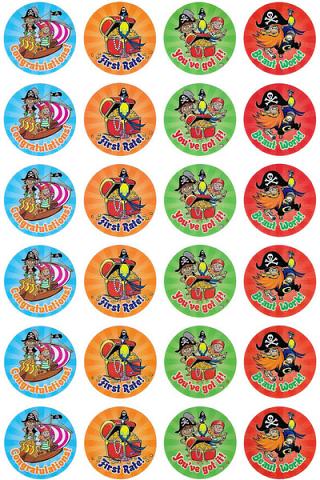 Pirate Merit Stickers 96 pack (MS037)