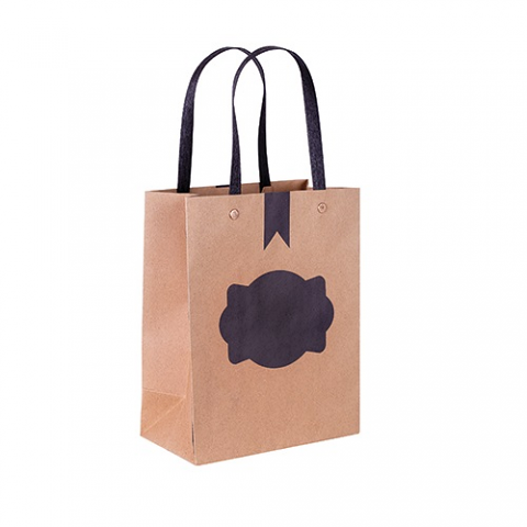 Blackboard Paper Bag with Handle 12pack Small