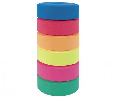 Tempera Paint Block Fluoro Colours Refill Set