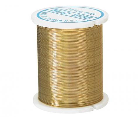 Jewellery Wire 24 yard (22m) Gold