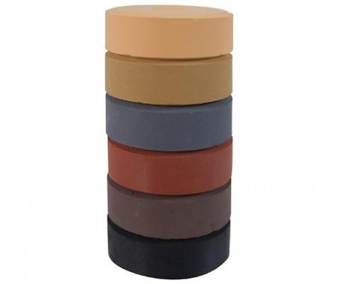 Tempera Paint Block Earth Colours Refill Set